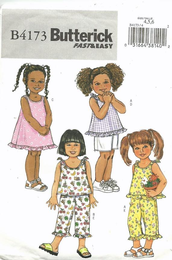 Sin cortar, niño Talla 1, 2, 3, costura patrón, Butterick 4173 ...