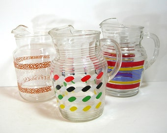 Retro Glass Pitcher Collection