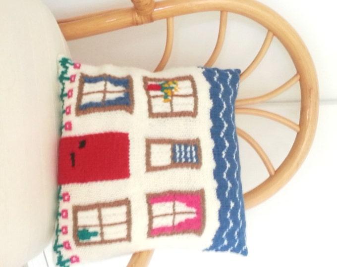 Pillow Knitting Pattern, Cushion knitting pattern,  House Knitting Pattern, pdf download knitting pattern, Home  accessory knitting pattern