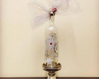 Sparkling Snowflakes Wine Bottle