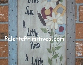 A Little Patience Sign    Instant Download E-pattern