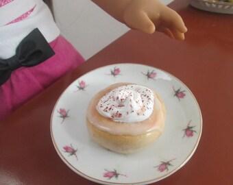 Doll Food Cinnamon Creme  Kreme Donuts Polymer Clay Miniature Food 1 Dozen Donuts American comfort foods 1\3 scale