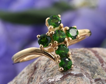 Russian Chrome Diopside Ring - Size 9