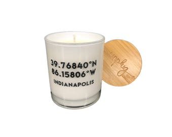Coordinates- Customizable- Soy Candles- Custom Candles