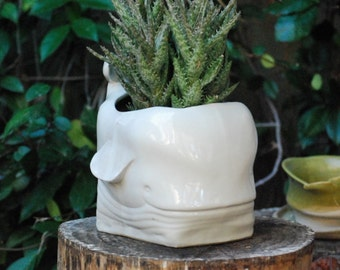 Whale decor Ceramic  planter, Whale Planter, Large indoor planters, Modern planters, Animal planters, Housewarming gift, Pottery planters