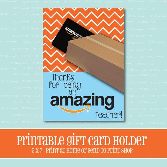 instant download amazon gift card holder amazing teacher. Black Bedroom Furniture Sets. Home Design Ideas