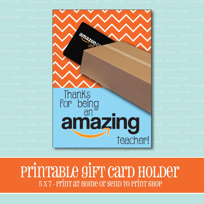 INSTANT DOWNLOAD Amazon Gift Card Holder Amazing Teacher