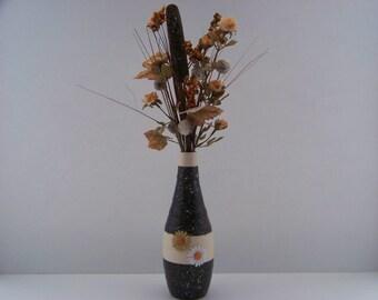 Artificial silk flower arrangement centerpiece for anytime use