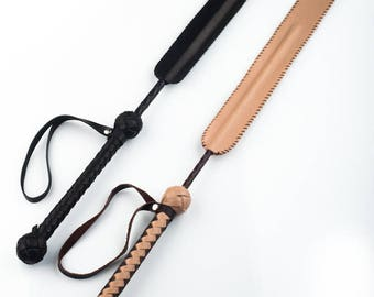Leather BDSM riding crop, Whip, miledi, leather whip, BDSM whip,  One-tailed whip,