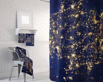 Shower Curtain Art Curtain Triangles Abstract Curtain Mosaic Pattern Curtain  Polygon Flowers Geometric Curtain 60x72 Inch