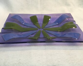Vintage Mod Glass Ashtray by Higgins Glass