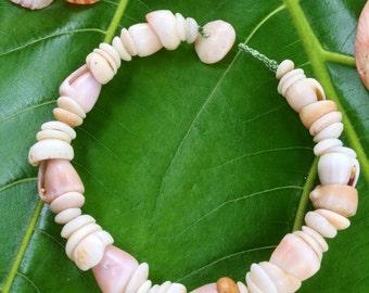 Puka Shell Bracelet Hawaiian Shell Jewelry Cone Shell Beach Bracelet Kauai Puka Shell Bracelet Island Seashell Jewelry- Eco Friendly