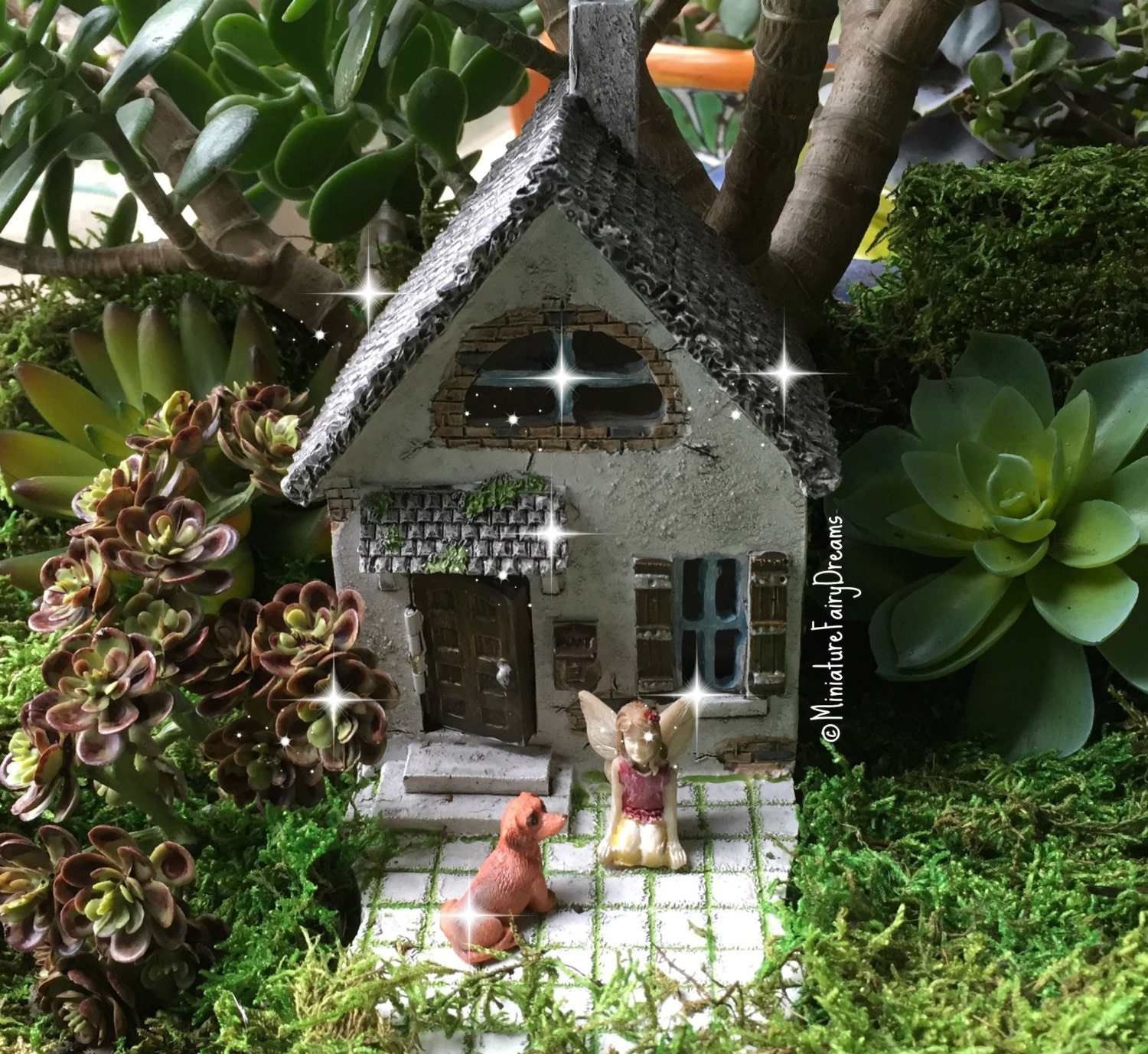 Fairy Garden House, Fairy Garden Cottage, Tiny Fairy House, Miniature House,  Gnome