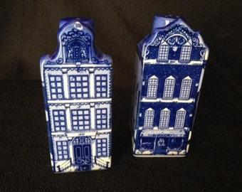 Delft Vintage Salt & Pepper shakers