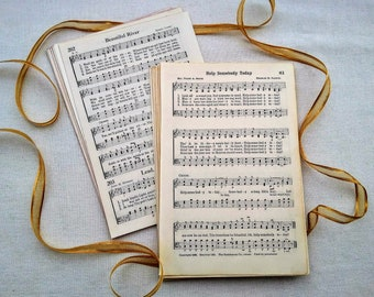 30 Vintage Hymnal Music Pages Sheets Book Paper Ephemera Church Religious Song Sing Choir Mixed Lot