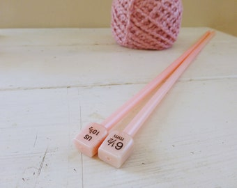 Knitting Needles, plastic knitting needles, 14 inches, US Size 10.5