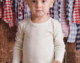 Merino wool and silk long sleeves T-shirt for Kids
