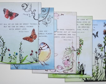 A5 size Filofax 'Quotes 2' Dividers - handmade and laminated