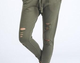 SALE!! Chic Olive Sweatpants, Fashion Olive Jogger Pants, Womens Olive Sweatpants, Womens Olive Joggers, Fashion Olive Jogger Pants