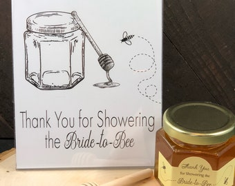 Thank You For Showering The Bride To Bee Sign - Bride to Bee Real Gold Foil Sign