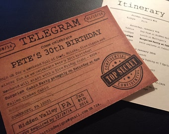 Telegram invite with Envelope