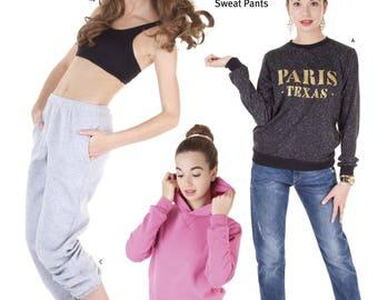 Jalie 3355 - Sweatshirt, Hoodie and Sweat Pants / 27 Sizes / Child & Adult