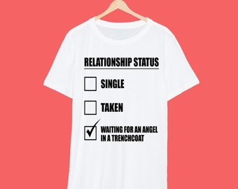 Castiel 'Relationship' Supernatural T Shirt
