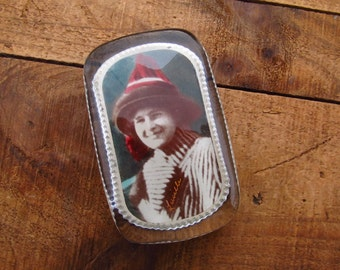 Antique Photograph Paperweight - Lady Portrait Paperweight