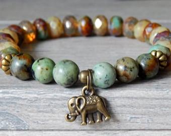 Ganesha Bracelet, Elephant Charm Bracelet, Elephant Bracelet, Hindu Bracelet, Ganesh Bracelet, Beaded Ganesha Bracelet, Ganesh Jewelry
