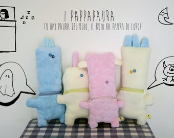 "PappaPaura (""fear eaters"") fabric stuffed plushies for babies"