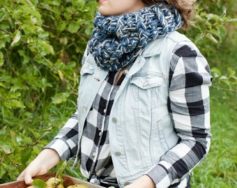 THE BRACKISH COWL | 23 Color Choices | Chunky Knit Cozy Textured Infinity Cowl Scarf