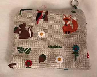 Woodland forest coin purse