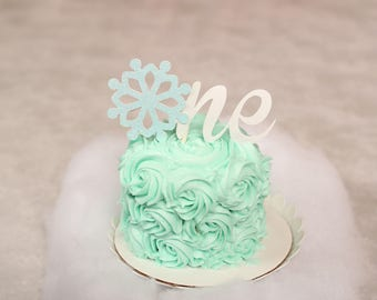 snowflake cake topper, One cake topper, Winter Wonderland cake topper, smasdhcake topper, cake topper, winter wonderland party