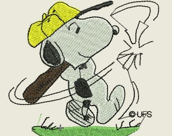 Snoopy Baseball Embroidered Iron On Patch