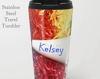 Cheerleader Gift Ideas-Coffee Tumbler-Stainless Steel Travel Mug-Coffee Tumbler-Cheer Coffee Tumbler-Insulated Travel Mug-Personalized Mug