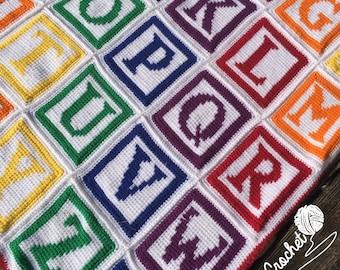 Crochet Alphabet Graph - Crochet Alphabet Pattern - ABC Baby Blanket - Crochet Graph - Crochet Letters - Crochet ABC Blanket