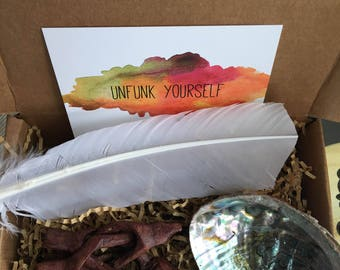 Unfunk Yourself Sage Smudging Kit