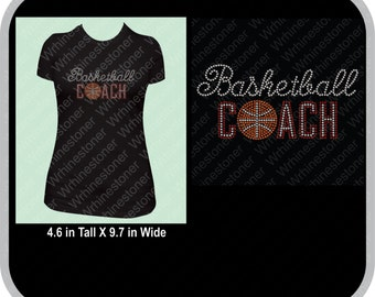 Rhinestone Basketball Coach Shirt for Women