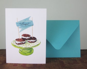 Whoopie Pie greeting card, Congratulations Card, Celebration Card