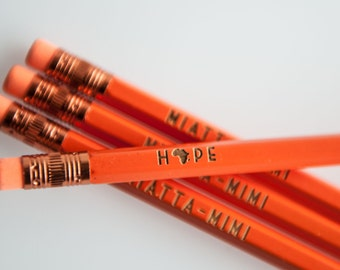 pencils, engraved pencils, pencil gifts, teacher gifts, quote pencils, graduation gift, party favors, cute pencils, back to school gifts