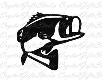 Bass svg, fish svg, fishing svg, hunting svg, fisherman svg, lake svg, dxf files, svg files, svg, svg files for cricut, silhouette