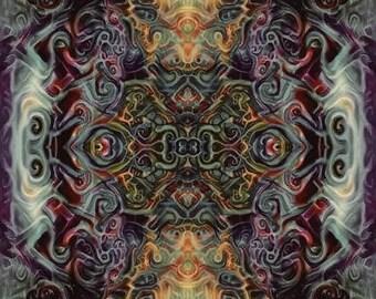 Cosmic Fuey // wall art // spiritual art // visionary art // decor // pattern