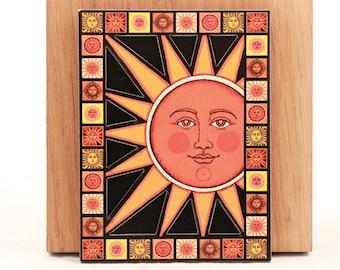 Vintage Sunrise Sealed  ~Big Sun~ 3-D Magnet.