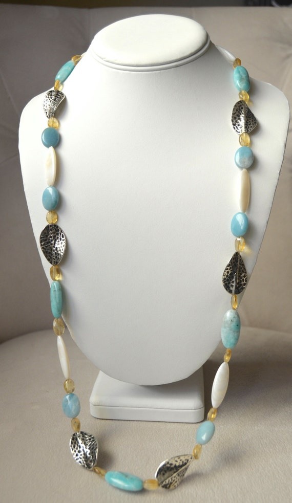 "30"" Peruvian Opal Necklace"