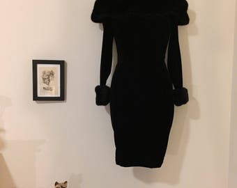 90s Off Shoulder Little Black Dress Size XS-Small
