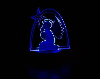 LED Angels, Angel, Praying Angel, Light Up, Angel Decor, Angels, Acrylic Angels, LED Praying Angel