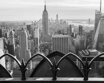 New York City Skyline from Rockefeller Center -  High Quality Photograph