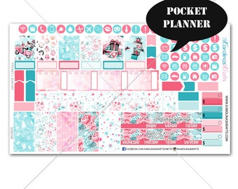Winter Planner Stickers MONTHLY Planner Kit, Pocket Planner Stickers, Sew Much Crafting, Monthly Sticker Kit #SQ00766-Pocket