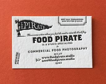 Letterpress business cards 250-1 color/1 Side-COTTON PAPER 450 gr