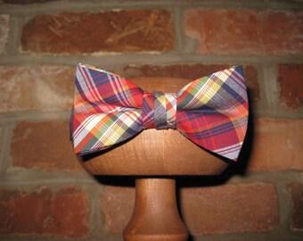 Multi Plaid Boys Bow Tie~Boys Bow Tie~Cotton Bow Tie~Wedding Tie